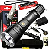 Klarus Upgraded XT12GT SUPER BUNDLE w/Advanced Tactical LED Flashlight, 18650 Battery, Magnetic Charging Cable, USB Cable, Holster, Lanyard, Car Adapter, Wall Adapter, and Mini USB Light