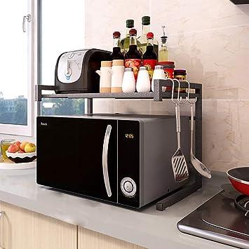 ZMW Estantería retráctil de cocina,Soporte para Microondas ...