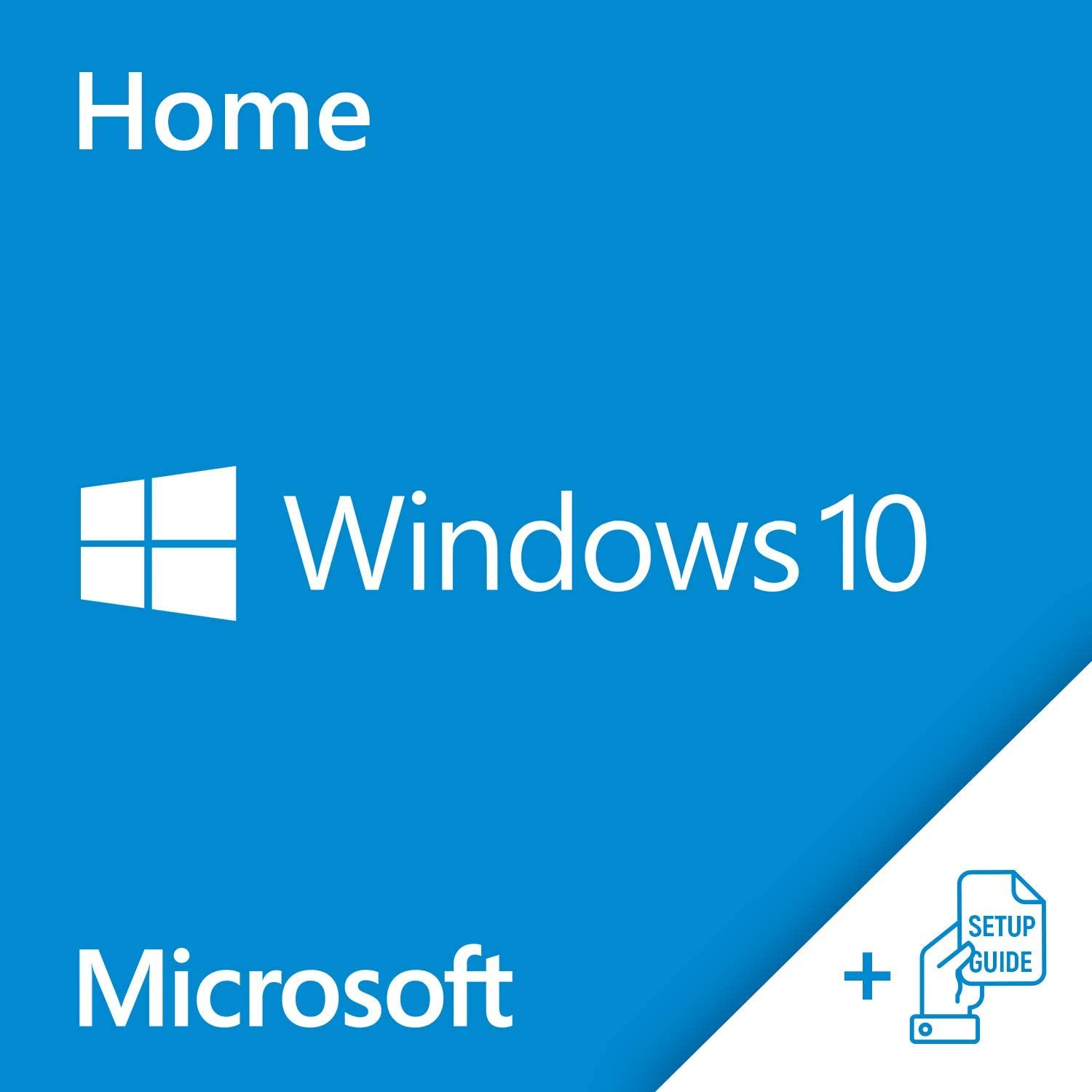 Windows10 Home OEM64 Bit DVD English Language | Full OEM Product Package bundled with Setup Guide