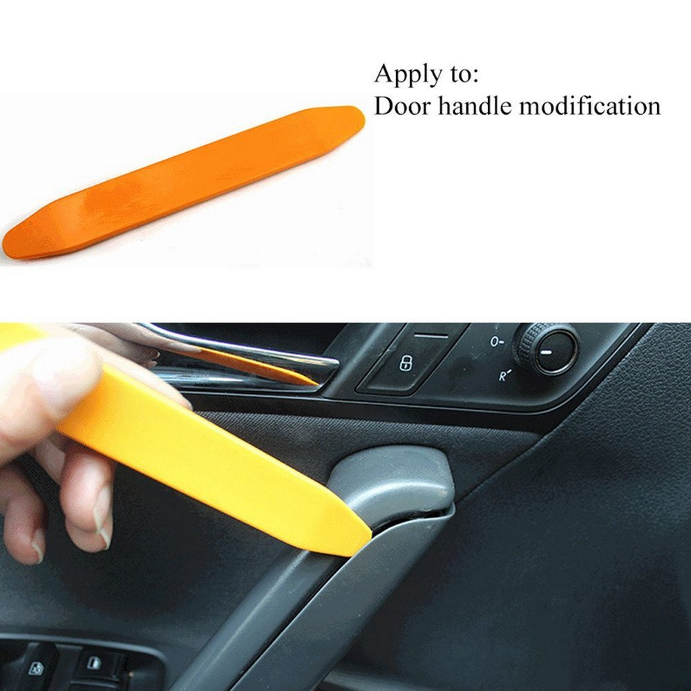 HOUTBY 4 Piece Car Plastic Trim Panel Dash Stereo Audio Radio Installer Removal Tool