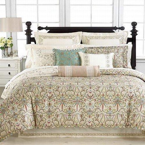 Martha Stewart Trousseau Ornate Paisley Queen Bedskirt Ivory