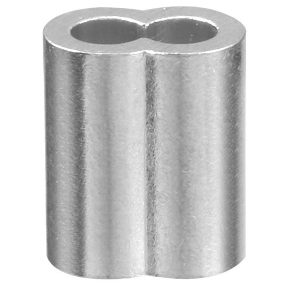 4 mm REFURBISHHOUSE 5//32 pulgadas Diametro Junturas de clip de manguitos de aluminio de cuerda de alambre Engarces de cable 100pzs