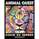 ANIMAL QUEST Color by Number: Adult Coloring Stress Relief Animals Hidden by Numbers (Adult Coloring Books) (Volume 1)