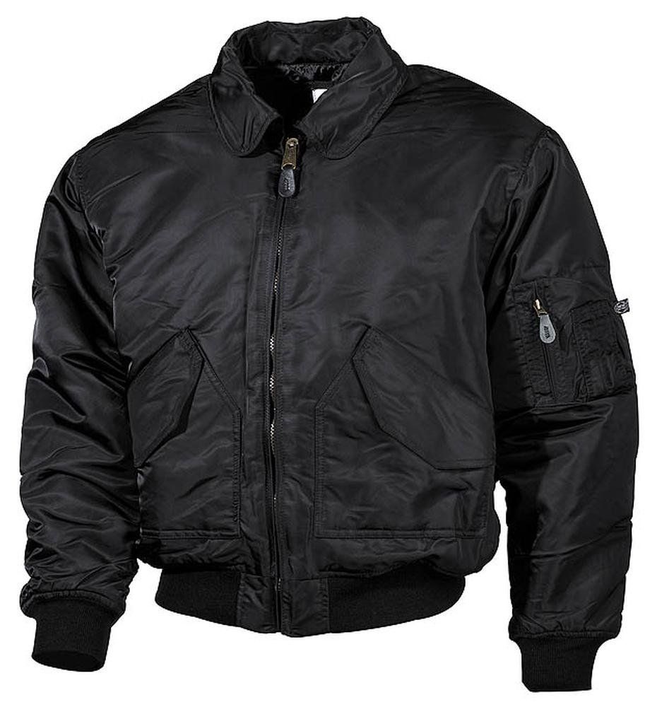 Max Fuchs Men's US CWU Flight Jacket Mod. Big Sizes Black 5XL