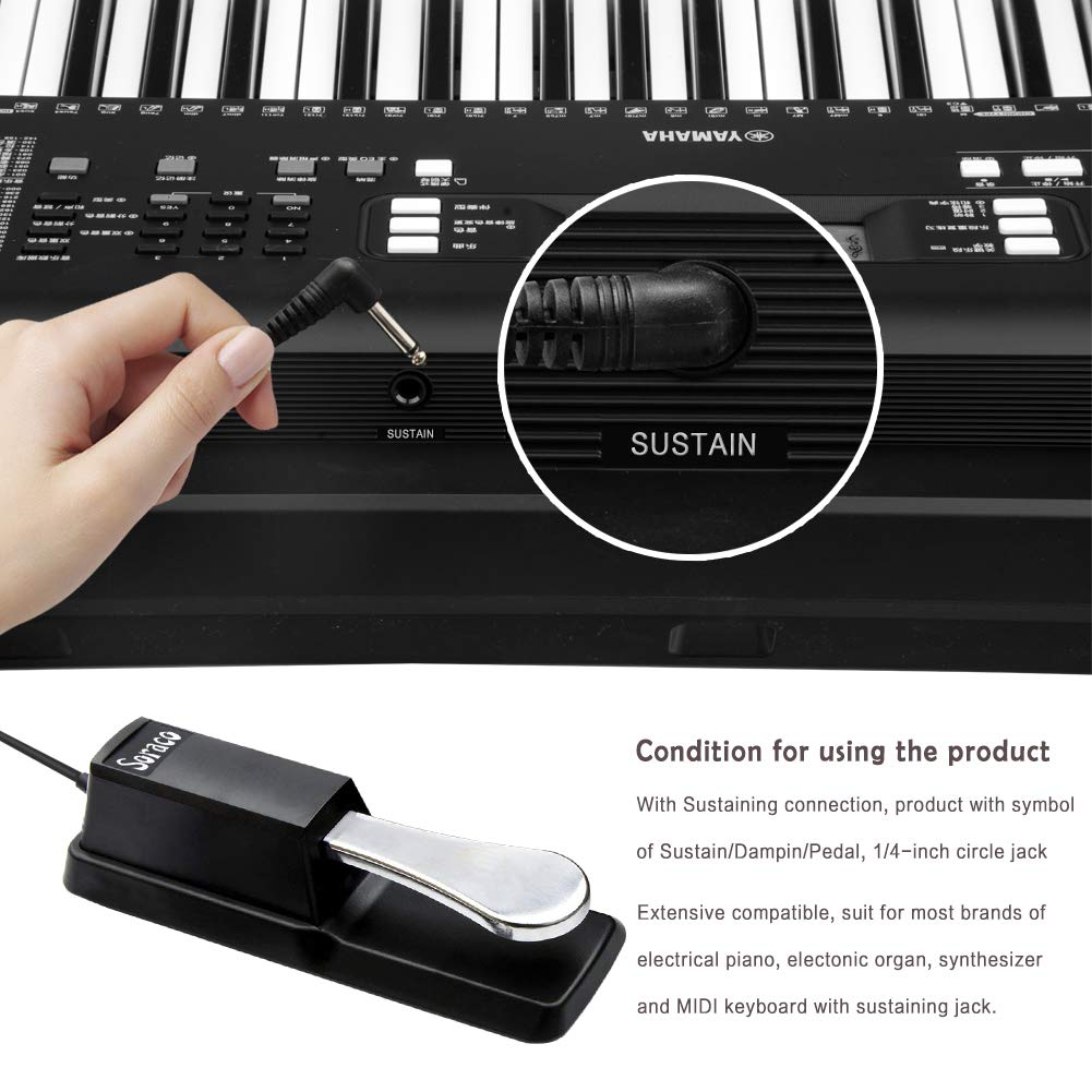 Sustain Pedal Universal For Yamaha Casio Roland Korg Keyboard Wiring Diagram Behringer Moog Piano Midi Electronic Keyboards Musical Instruments