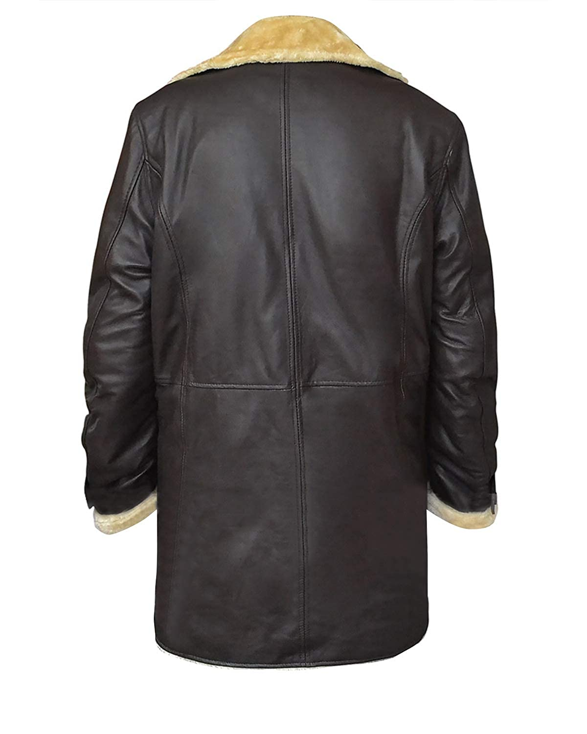 Mens Youngblood Priest Superfly Trevor Jackson Fur Shearling Brown Leather Coat