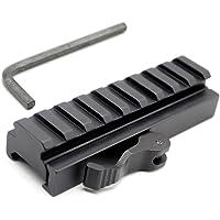 Trirock 9 Ranuras Rail Riser Mount Adapter con Quick Release Desmontable for 20mm Picatinny Weaver Rails