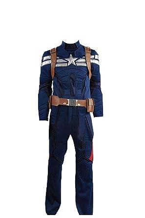 cosplayfly Disfraz de Capitán América Steve Rogers, Disfraz ...