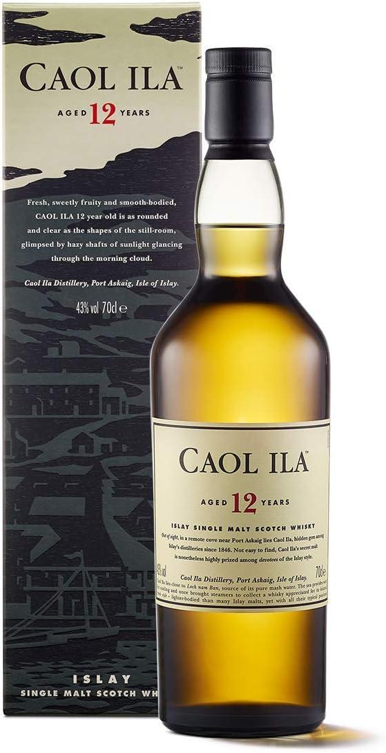 Caol Ila 12 Años Whisky Escocés Puro de Malta de la Isla de Islay - 700 ml: Amazon.es: Alimentación y bebidas