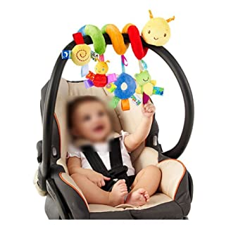 Lalang Baby Kids Spiral Activity Hanging Toys Stroller Toy Car Seat Bed Insects