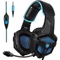 [Sades 2016 Multi-Platform New Xbox one PS4 Gaming Headset], SA-807 verde Gaming Headset cuffie Gaming per New Xbox one / PS4 / PC / Laptop / Mac / iPad / iPod (Nero / Blu)