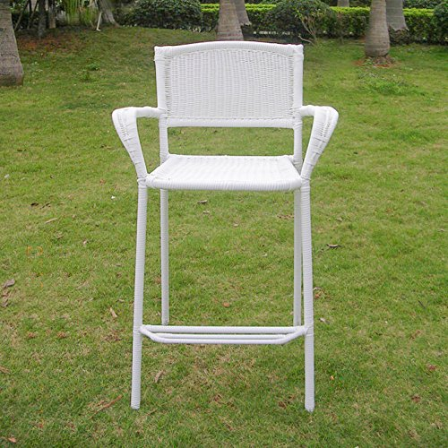 International CaravanInternational Caravan Maui Resin Wicker/Steel Bar Bistro Chair (Set of 2) (Bistro Maui)