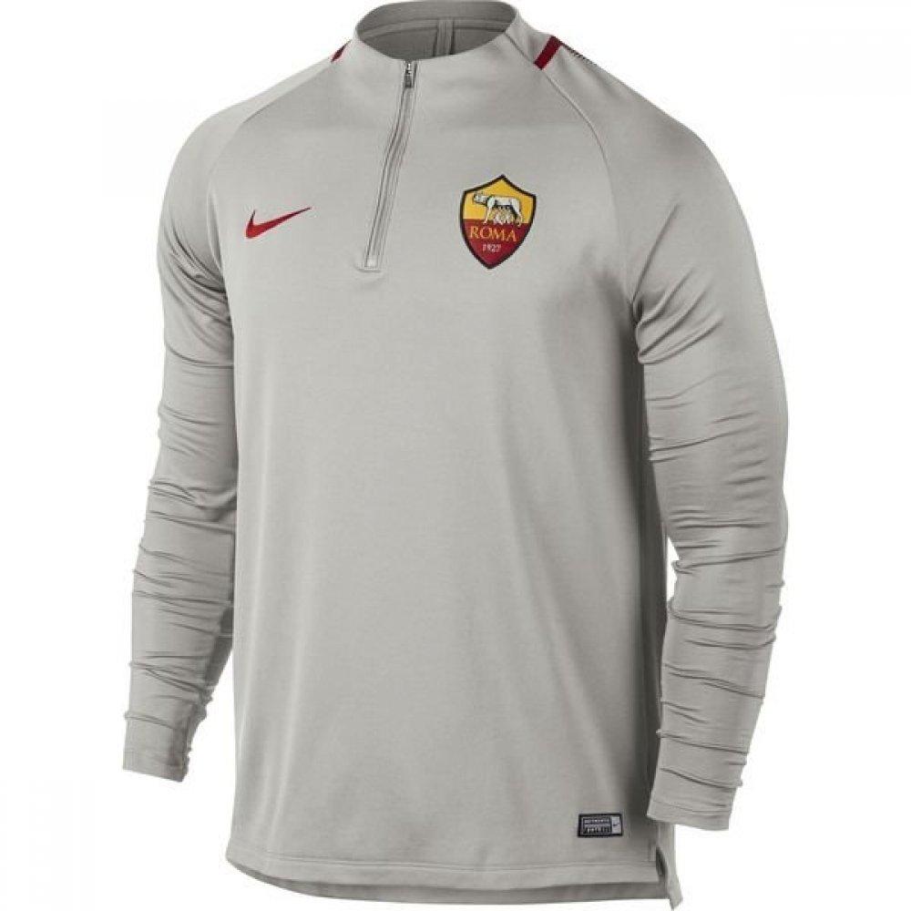 2017-2018 AS Roma Nike Training Drill Top (Light Bone) B079WNF1XSGrey Medium 38-40\