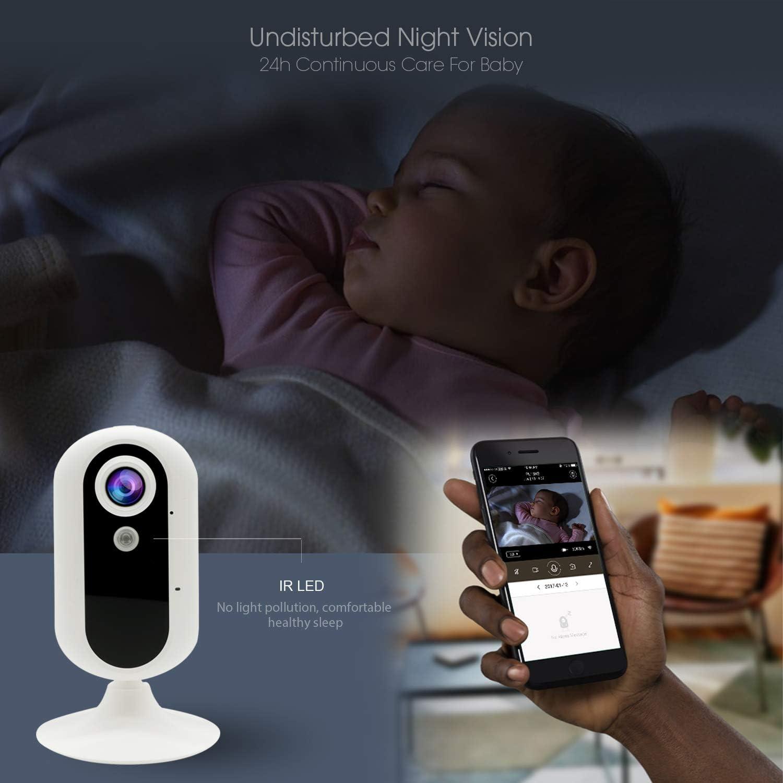 3G C/ámara de Vigilancia C/ámara de Interior Seguridad M/óvil con Video en Vivo//Visi/ón Nocturna//De Dos V/ías Audio//Movimiento//Detecci/ón de Sonido//Monitoreo de Mascotas GM01N