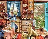 pictures of white kitchens White Mountain Puzzles Cozy Kitchen - 300 Piece Jigsaw Puzzle