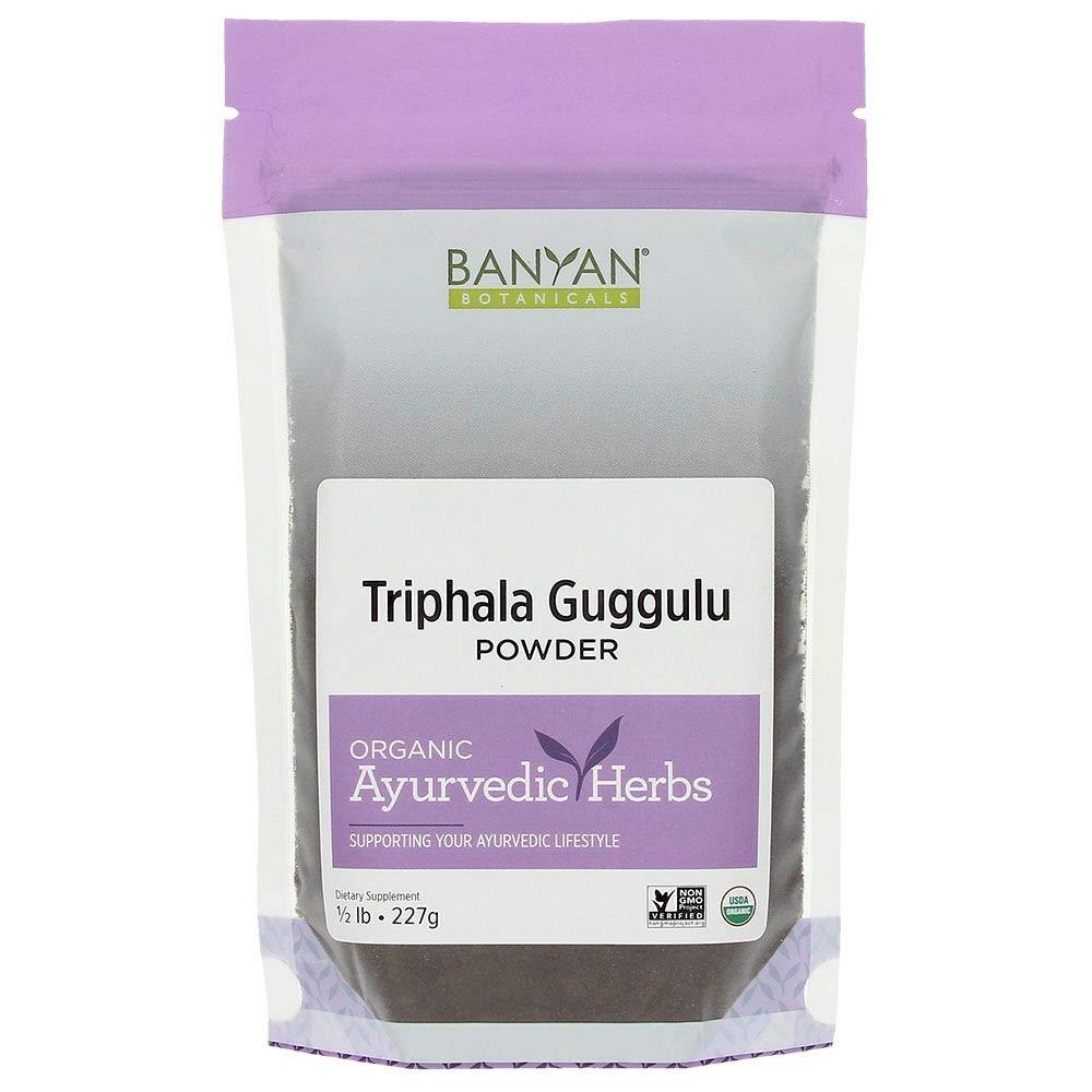 Banyan Botanicals Triphala Guggulu Powder - Certifed Organic, 1/2 Pound - Detoxification and support for metabolic function* by Banyan Botanicals