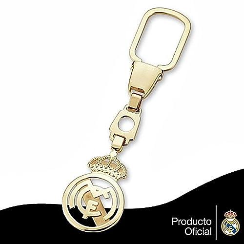 Llavero escudo Real Madrid oro de ley 18k liso calado [6438 ...