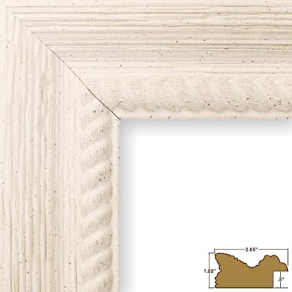 Amazon.com - Craig Frames Barnwood Ornate, Rustic Off-White Picture ...