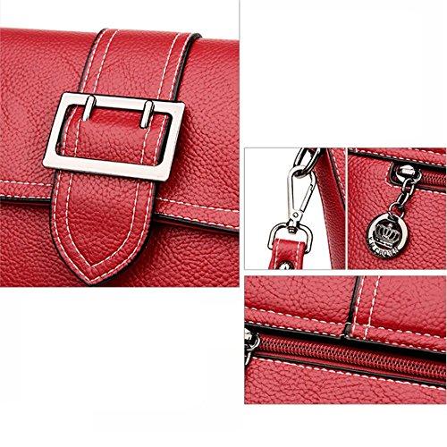 25cmx9cmx17cm main Cuir Penao ceinture taille centrale Red décorative sac Lady mode besace d'unité à à bandoulière q1wwfx
