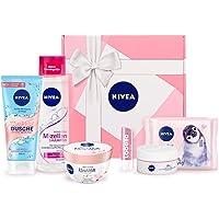 NIVEA Geschenkbox Rosa, Pflegeset mit Shampoo, Reinigungstüchern, Tagespflege, Pflegedusche und mehr, Geschenkset mit Pflegeprodukten für besondere Wohlfühlmomente für die Liebsten