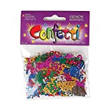 Multicolored Mazel Tov in Hebrew & English Confetti, Jewish Decorations for Wedding, Engagement, Bar Mitzvah, Bat Mitzvah Parties