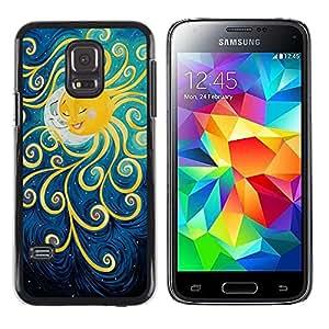 """Pulsar Snap-on Series Teléfono Carcasa Funda Case Caso para Samsung Galaxy S5 Mini ( NOT for regular S5 ) , Pintura Luna Kids sueño de la noche"""""""