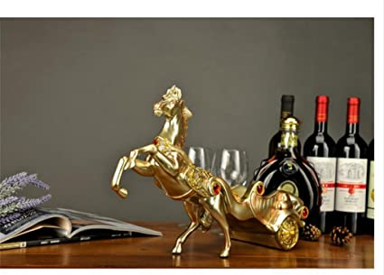 carritos de estilo europeo estante del vino de resina elefante tracción, adornos, gabinete creativo