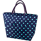 Lunch Hand Bags, SUROY Oxford Cloth Foil Insulated Cooler Bag, Portable Outdoor Camping Zipper Cooler Bag Lunch Box Package (Green spot big)