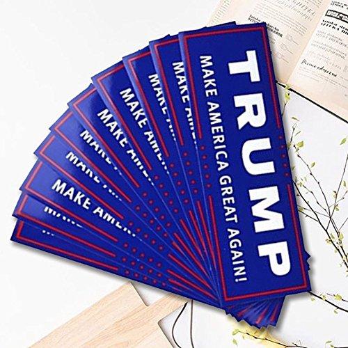 10 Pcs Keep America Great President Donald Trump 2020 Election Patriotic Bumper Sticker Auto Decal Conservative Republican Blue