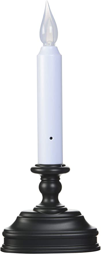 Xodus Innovations FPC1520A Battery Operated LED Flameless Window Candle, Aged Bronze/Black Finish with Dusk to Dawn Sensor