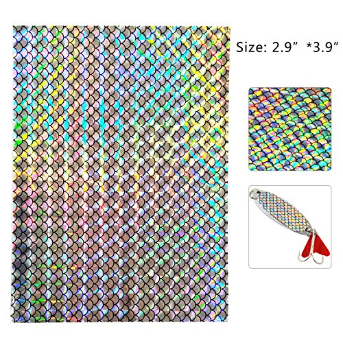 Holographic Adhesive Film Flash Fishing Lure Prism Tape Scale Skin Laser Lure Stickers Reflective Film DIY Art Craft Fly Tying Materials Tool