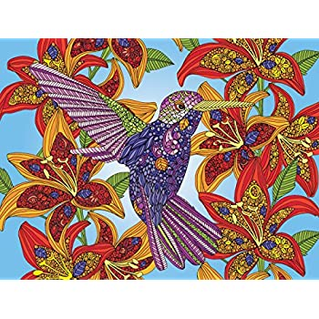 White Mountain Puzzles Hummingbird Coloring Puzzle (300 Piece)