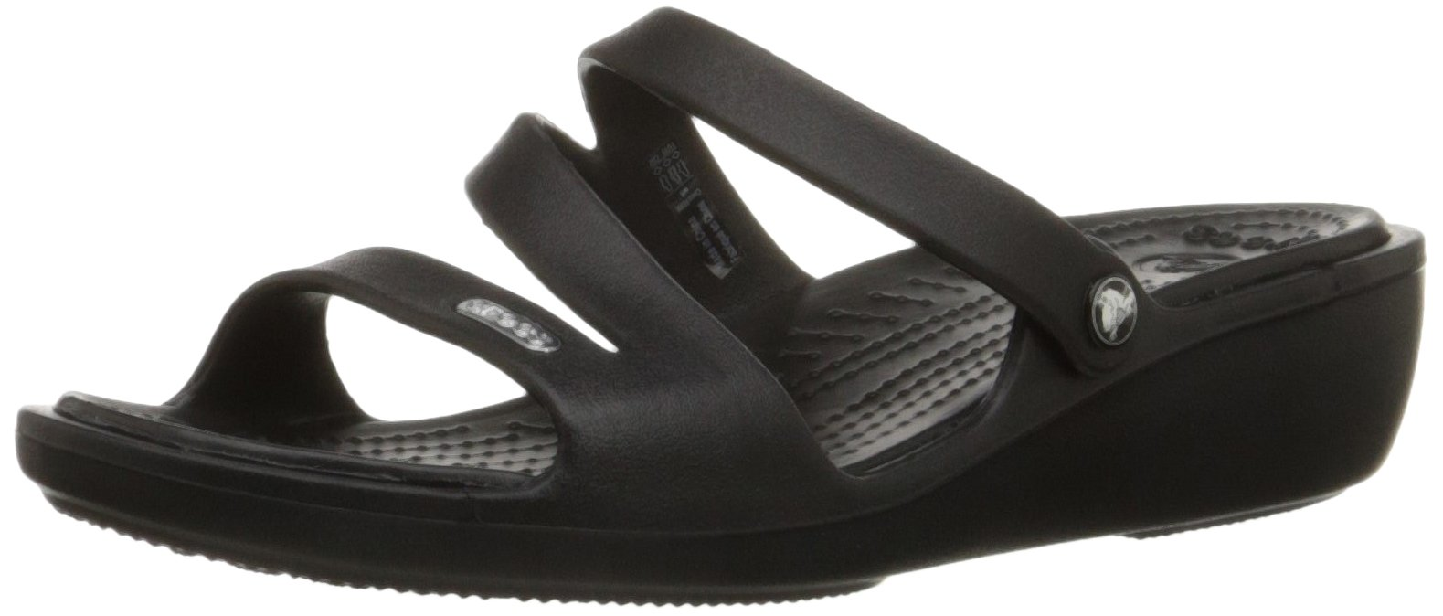 Crocs Women's Patricia Wedge Sandal, Black/Black, 8 M US by Crocs