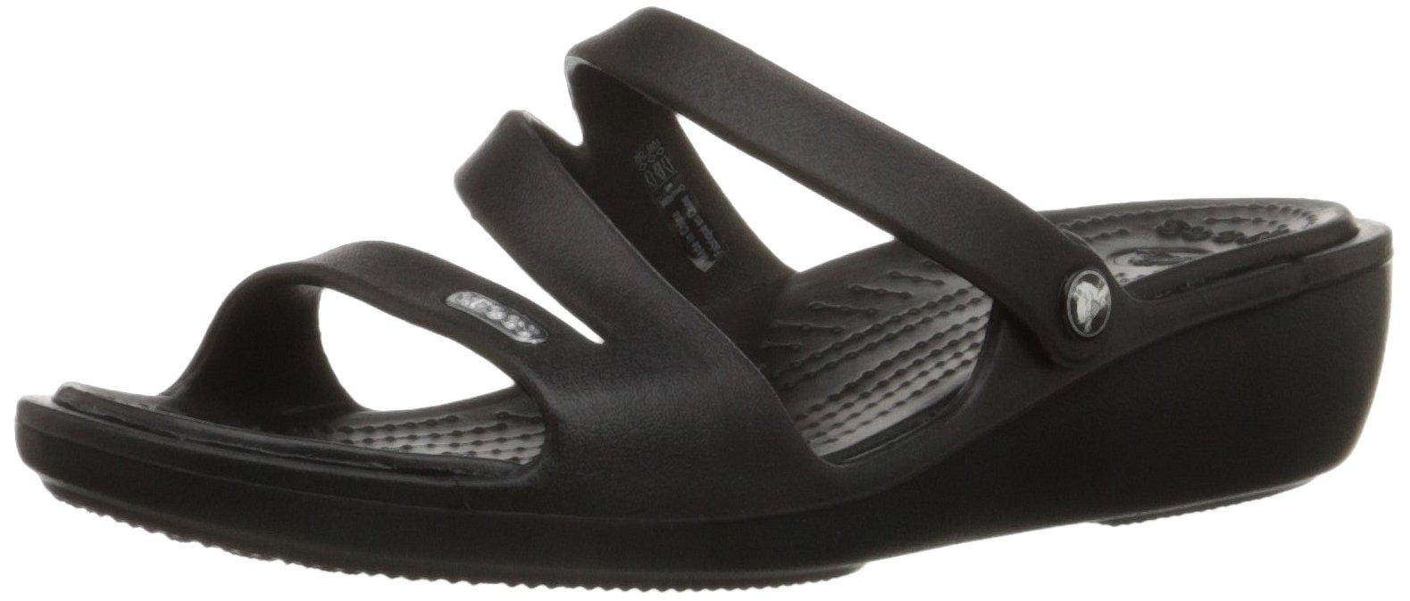 Crocs Women's Patricia Mini Wedge, Black/Black, 7 M