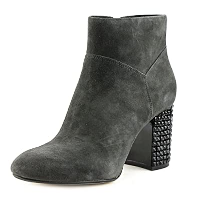 Womens Arabella Leather Round Toe Ankle Fashion Boots