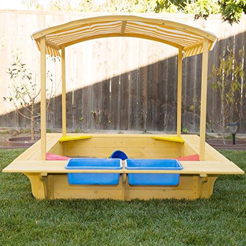 Amazon.com Outward Play Playfort Activity Sandbox with Canopy Toys u0026 Games & Amazon.com: Outward Play Playfort Activity Sandbox with Canopy ...