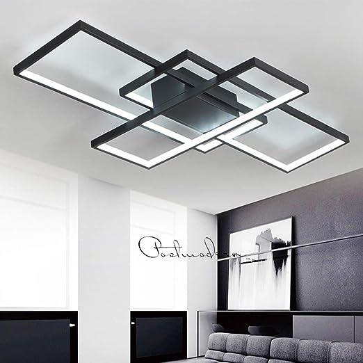 Luminaire Led Plafonnier Dimmable Salon Lampe Plafond Avec