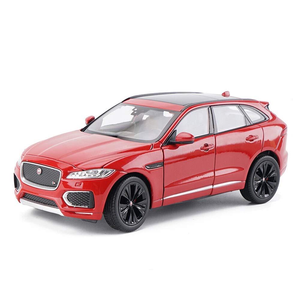 Auto Modello Jaguar F-Pace SUV 1 24 Simulazione in Lega Modello di Auto Giocattolo Modello statico Collezione di Ornamenti Regali ( Colore   rosso )