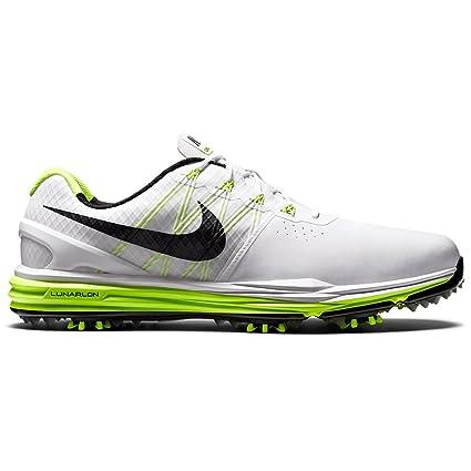 online store 3fd84 60c93 Amazon.com  Nike Men s Lunar Control 3 Golf Shoes White Black Volt  Sports    Outdoors