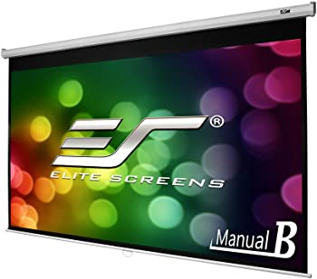 Elite Screens Manual B, 100-INCH 16:9, Manual Pull Down Projector Screen