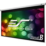 "Elite Screens Manual B, 100""  16:9, Manual Pull Down Projector Screen 4K / 3D Ready with Slow Retract Mechanism, 2 Year Warranty, M100H"
