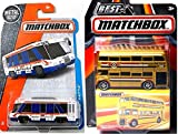 Hot Wheels HW City Works Shuttle Bus + Matchbox British Vehicle Routemaster Bus Two-Story Double Decker Bus series #1 - Best of MBX