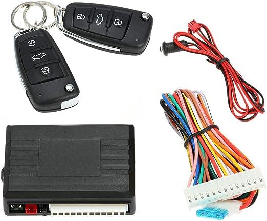 Kkmoon Universal Auto Türschloss Keyless Entry System Zentralverriegelung Fernbedienung Kit Mit 2 Klappschlüssel Auto