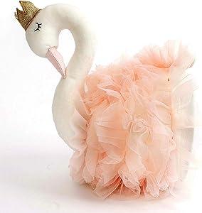 "Monami Mon AMI Princess Swan Stuffed Animal Head Wall Mount, Pink, 7"", Home Decor, Kids Decor, Nursery Decor, 88867 JPQ517 18CM"