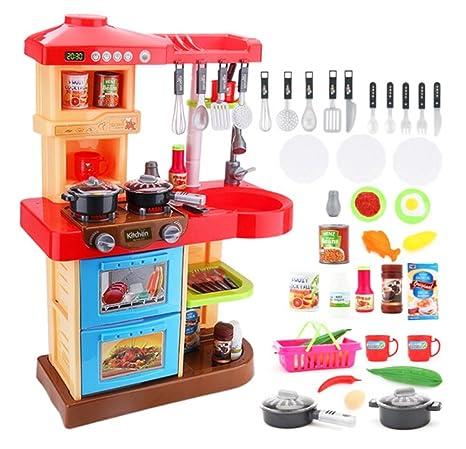 deAO Cucina di Giocattolo con Luci e Suoni Include 30 Accessori ...