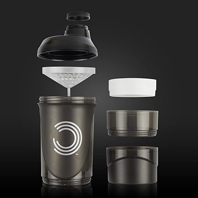 Bulk Powders 600 ml negro Pro Series de almacenamiento Shaker ...