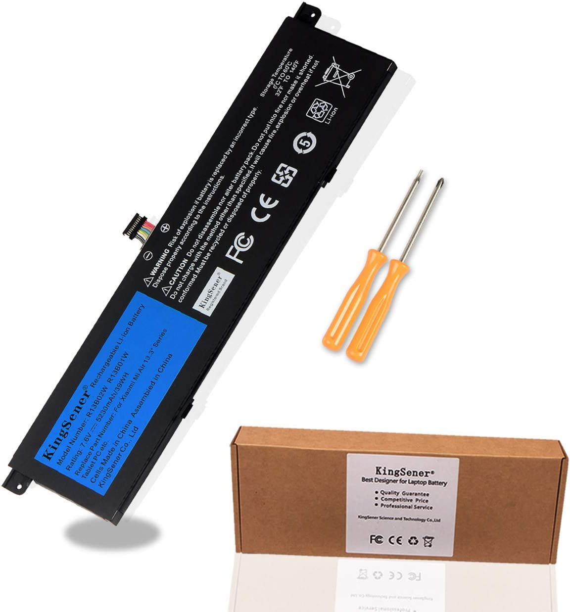 "KingSener New R13B01W R13B02W Laptop Battery for Xiaomi Mi Air 13.3"" Series Tablet PC 7.6V 5230mAh /39WH"