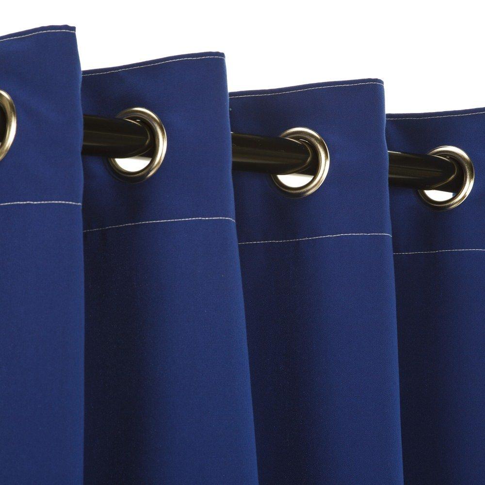 Pawleys Island Sunbrella Curtain - Canvas True Blue 108 Inches