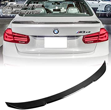 P Style For BMW F30 320i 328i /& F80 M3 Carbon Fiber Rear Spoiler Boot Lid 2012+