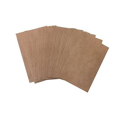 100 unidades pequeñas bolsas marrones bolsas papel kraft en papel 13 x 18 + 2 cm (lengüeta) Papel de bolsa de plano como del paquete para obsequios Give de aways Regalos Productos para hacer de sí: Oficina y papelería